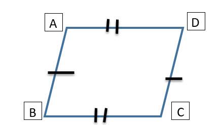 מרובע שיש לו שתי זוגות של צלעות שוות בגודלן הוא מקבילית (כל זוג צלעות שווה ולא כל הארבעה).