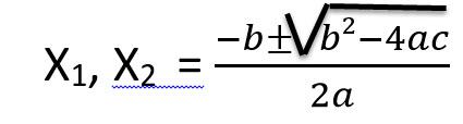 נוסחה לפתרון משוואה ריבועית