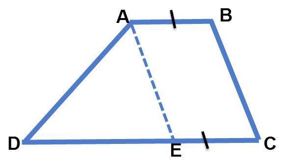 העברת קו מקביל לשוק הטרפז יוצרת מקבילית בתוך הטרפז