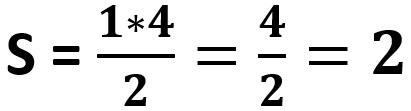 חישוב שטח משולש