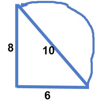 שטח משולש וצורה מורכבת