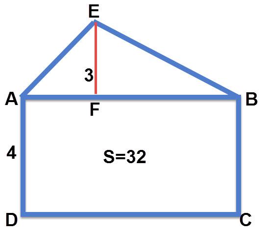 חישוב שטח משולש, שרטוט התרגיל