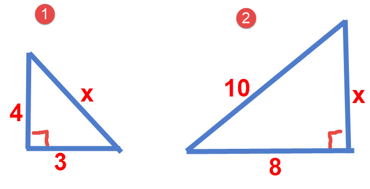 תרגילים לפתרון בעזרת משפט פיתגורס