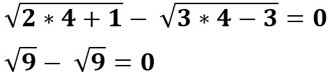 הפתרון נכון עבור x = 4.