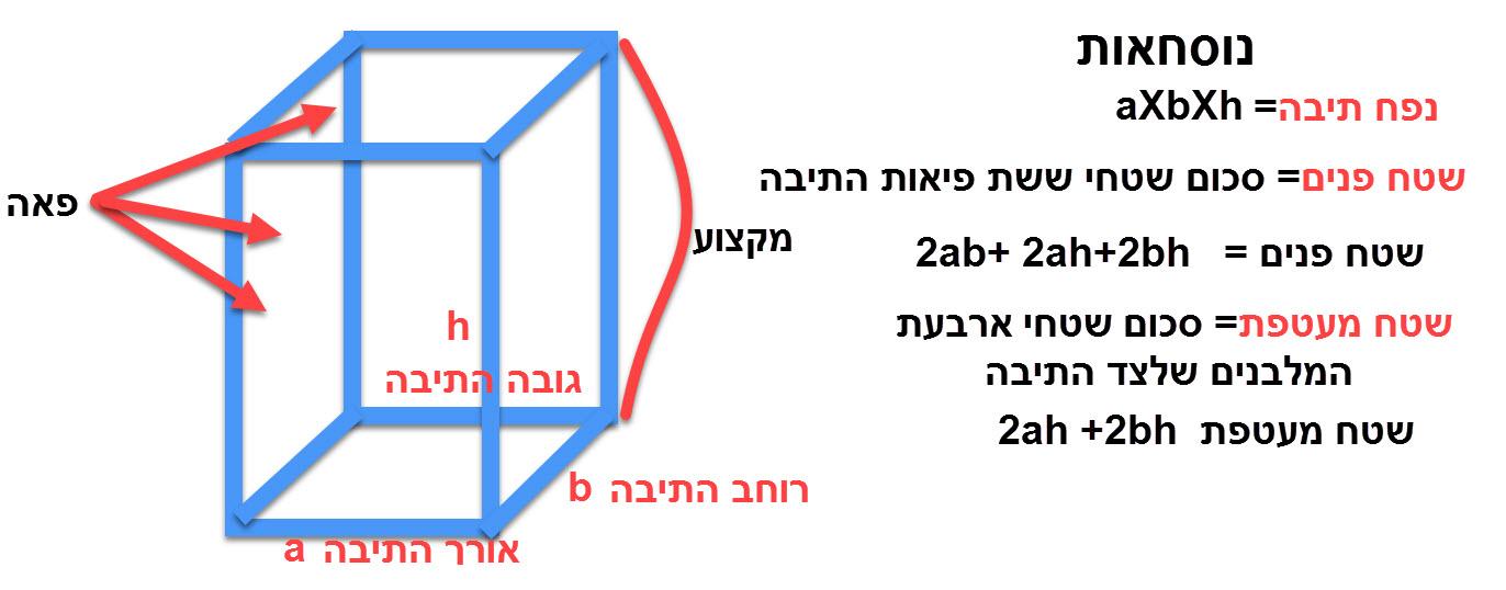 הגדרות ותכונות התיבה כפי שפורטו בדף