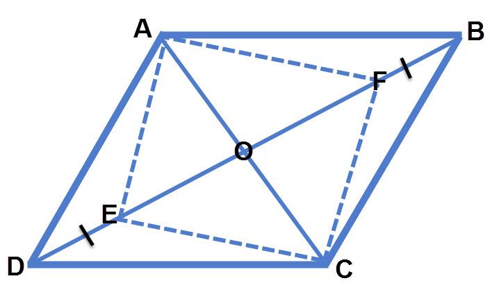 כאשר מחסרים קטעים שווים משתי קצוות אחד האלכסונים נוצרת מקבילית