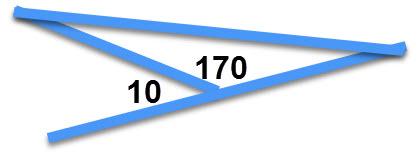 משולש שהזווית החיצונית שלו שווה ל 10 מעלות
