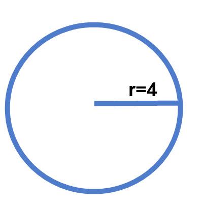 """חישוב שטח מעגל שרדיוסו 4 ס""""מ"""