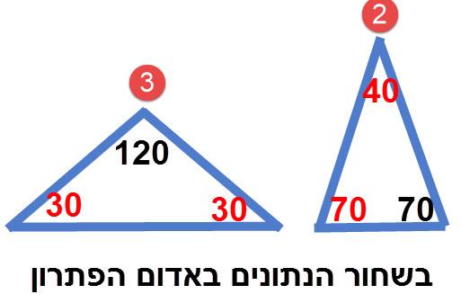שרטוט הפתרונות לתרגילים 2 ו 3
