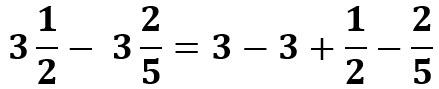 הפרדה בין השברים והשלמים ורישום סימן נכון ליד כל מספר