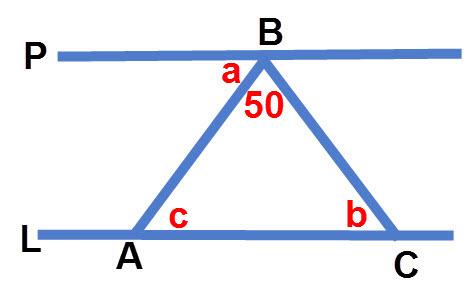 חישוב זוויות בין ישרים מקבילים