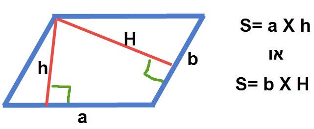 חישוב שטח מקבילית