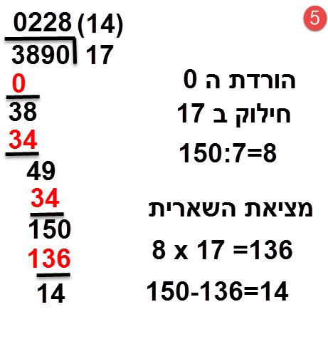 3890:17 = 228 ושארית 14