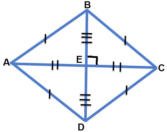 ארבעת המשולשים הנוצרים על ידי האלכסונים חופפים על פי משפט חפיפה צ.צ.צ