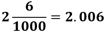 6/1000 2 = 2.006
