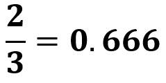 2/3 = 0.666