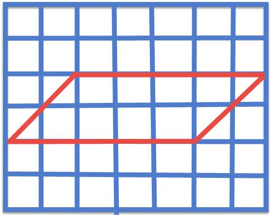 """מקבילית ששטחה 10 ס""""מ עם צלע שאורכה 5 ס""""מ וגובה לצלע שאורכו 2 ס""""מ"""