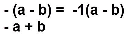 הוכחת הכלל  a - b) = - a + b) -