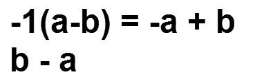 הוכחת הכלל ( a - b = - 1(b - a
