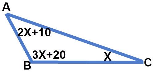 חישוב זוויות משולש