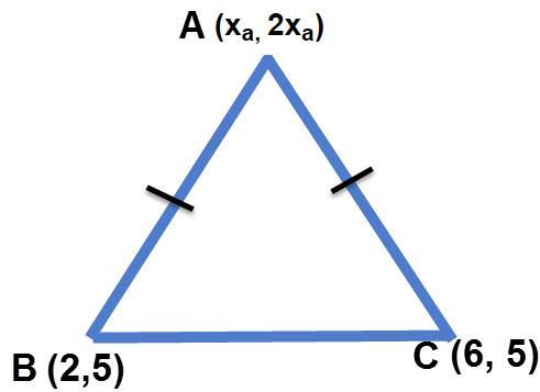 ניתן לחשב את ערכי נקודה A גם מבלי לדעת את המרחק של הנקודה A מהנקודות B,C