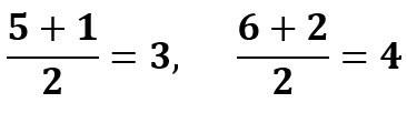 x = 3, y = 4 זו נקודת מרכז המעגל