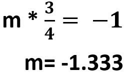 m= -1.333