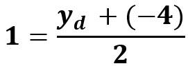 חישוב ערך ה Y בנקודה D