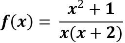 תחום הגדרה x≠-2, x≠0