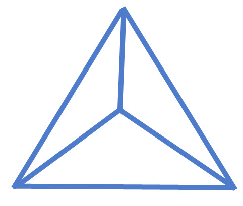 פירמידה משולשת וישרה