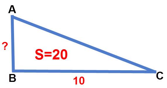 שרטוט התרגיל שטח משולש ישר זווית