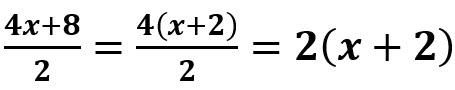 מוציאים 4 כמבנה משותף במונה, מצמצמים ב- 2