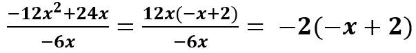 הוצאת 12x כגורם משותף וצמצום ב- 6x-
