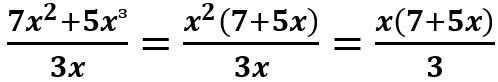 הוצאת x בריבוע כגורם משותף וצמצום ב- x