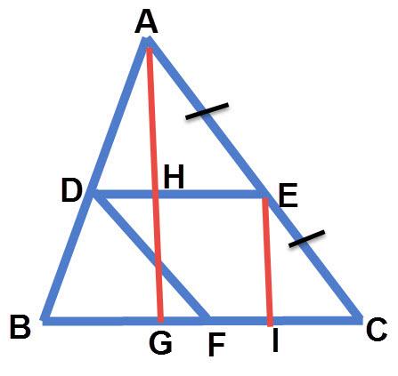 שרטוט התרגיל חישוב שטח מקבילית החסומה במשולש