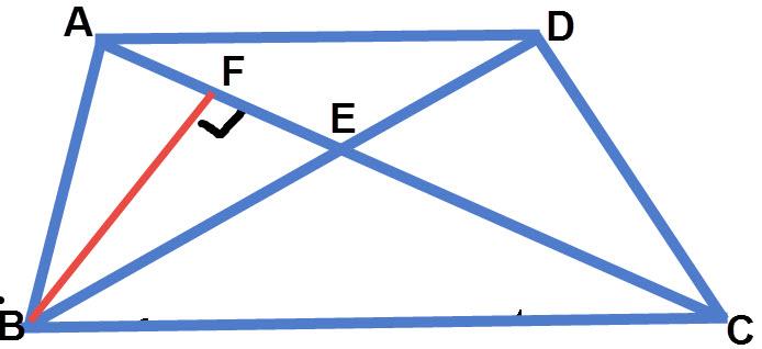 העברת גובה בטרפז לצורך חישוב שטח משולש