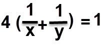 סכום קצבי העבודה כפול 4 שווה ל 1