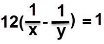 הפרש קצבי העבודה כפול 12 שווה ל 1