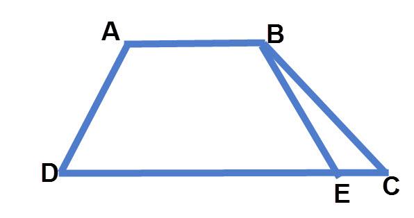 דוגמה ל BE= AD אך המרובע ABED הוא לא מקבילית.