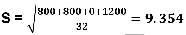 חישוב סטיית התקן 9.354