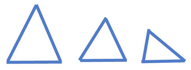 שלושה משולשים