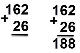 162 + 26 = 188