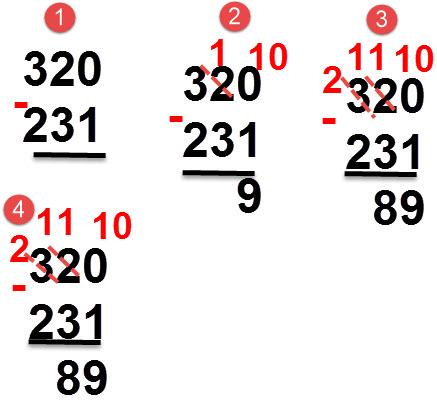 231 - 320 = 89