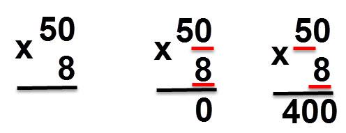 8 * 50 = 400