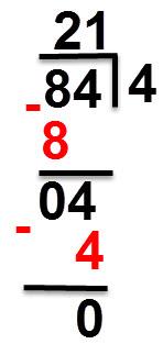 84:4=21