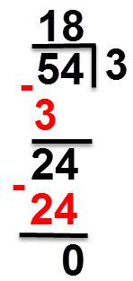 54:3=18