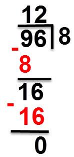 96:8 = 12