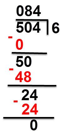 504:6 = 84