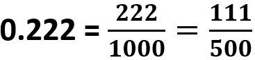 0.222 = 111/500