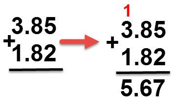 1.42 + 3.85 = 5.67